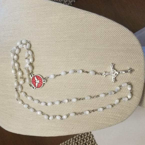 Vintage Glass Moonstone Rosary